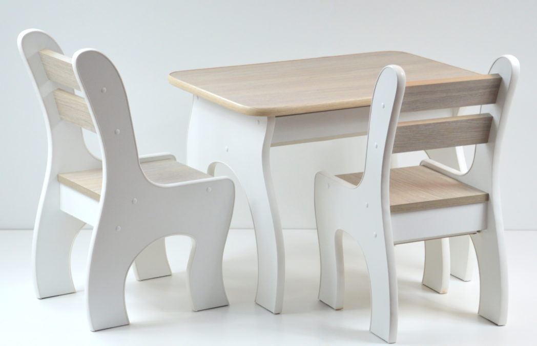 Model K 3 Otwierany stolik i krzesełka z szufladą | Kids